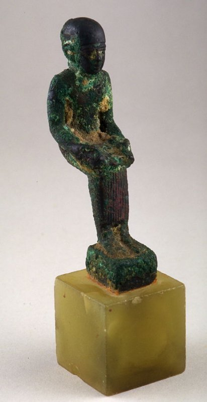 Seated scribe figurine (probably used as a handle)