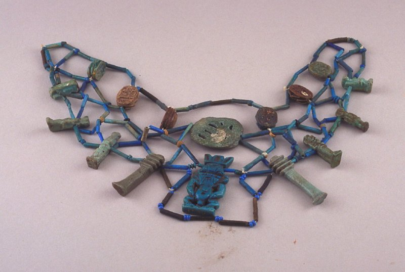 Necklace with amulet pendants