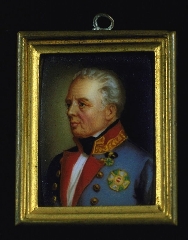 Portrait of a Man with red collar