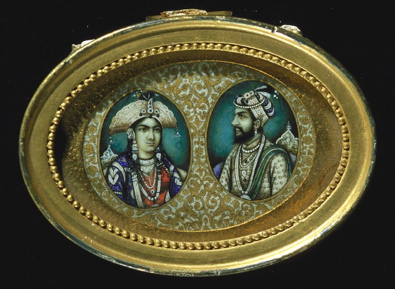 Shah Jehan and wife