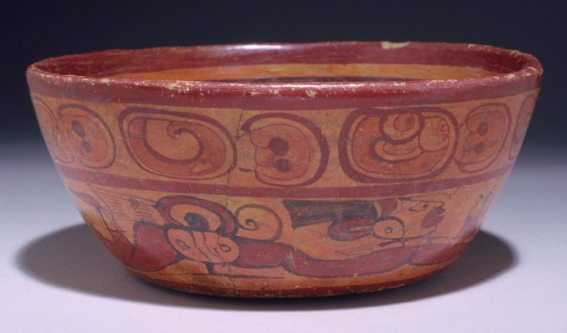 Bowl with Glyphs in the form of Swimming figures
