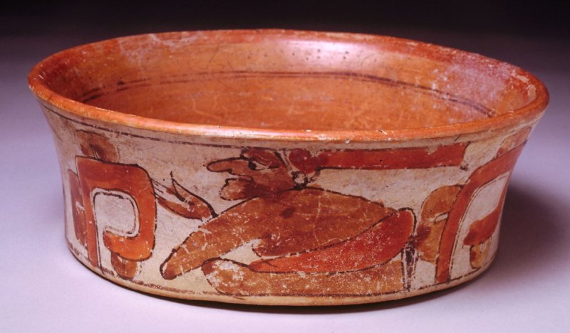 Flared vessel with figures