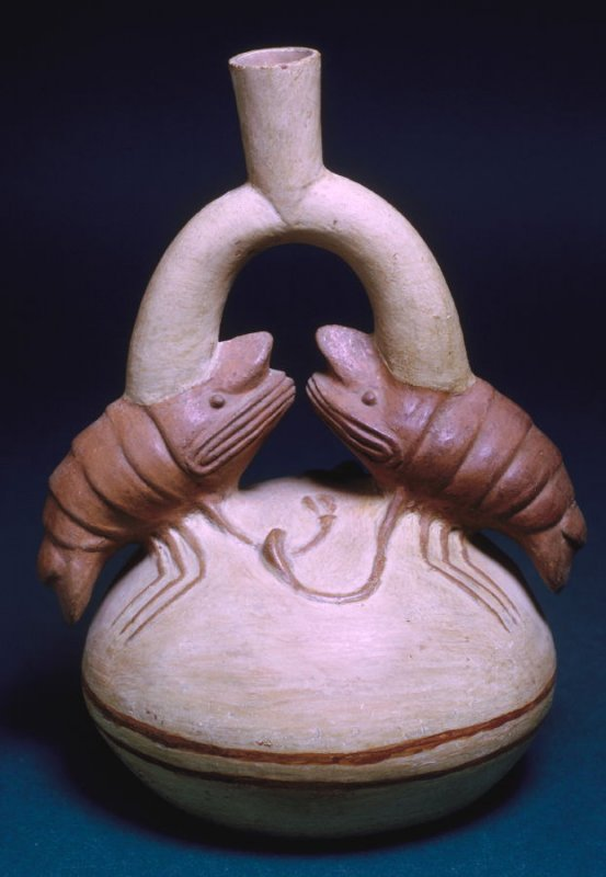 Stirrup pot with lobsters