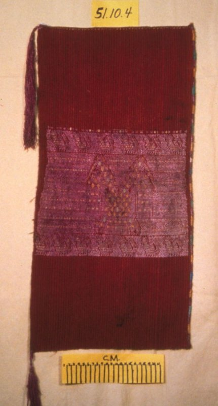 Man's headcloth or panel of a bundle cloth (tzute)