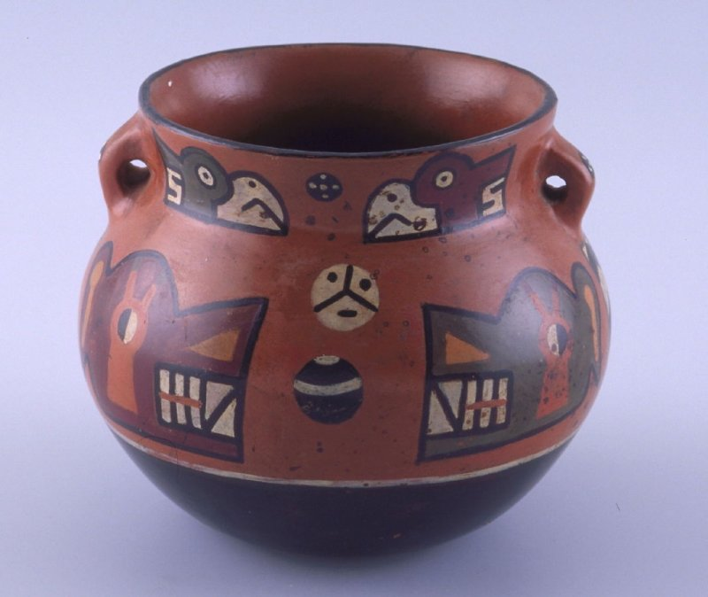 Bowl with zoomorph and bird heads