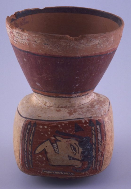 Vessel with trophy heads