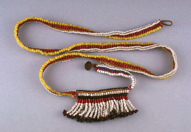 Necklace with fringed pendant