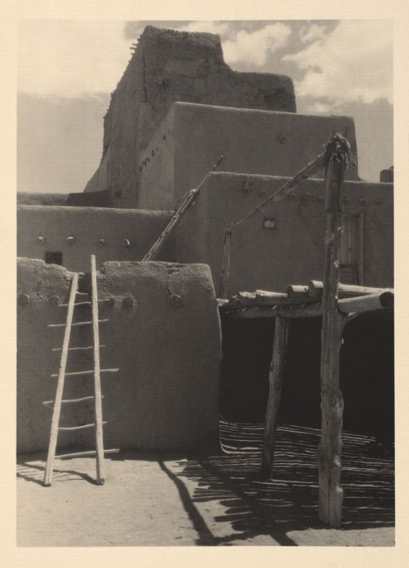 North House (End View), plate VII from Taos Pueblo (San Francisco: Grabhorn Press, 1930)