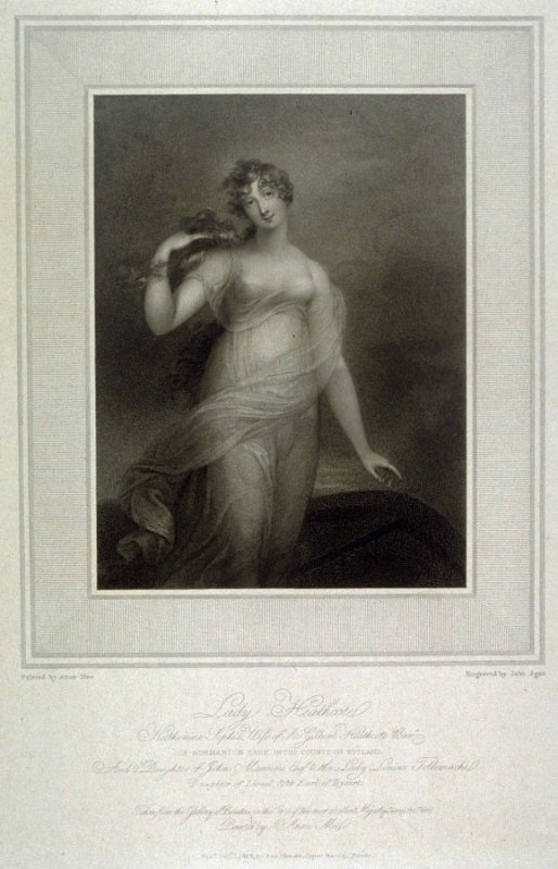Lady Heathcote, illustration to Mee's 'Gallery of Beauties of the Court of George III' (1812)