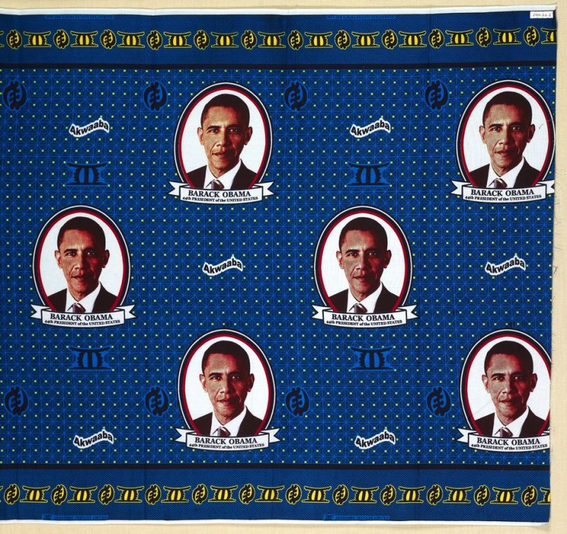 "Commemorative cloth: ""Obama, July 2009"""