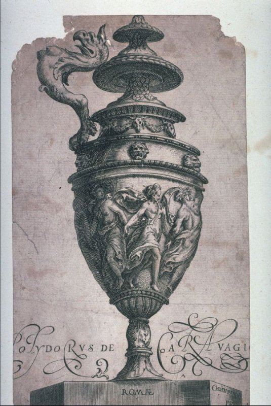 Plate from the series Antique Vases