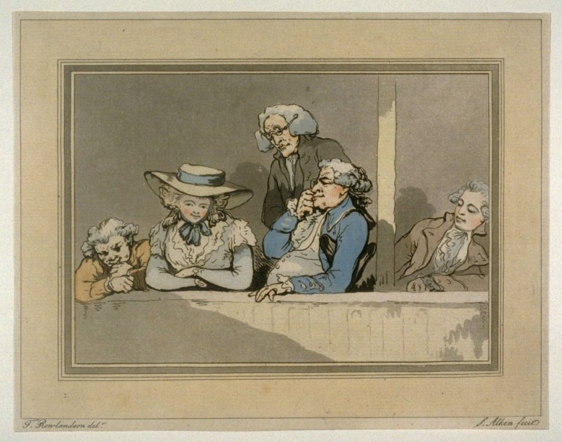 Plate 1 from the series Opera Boxes