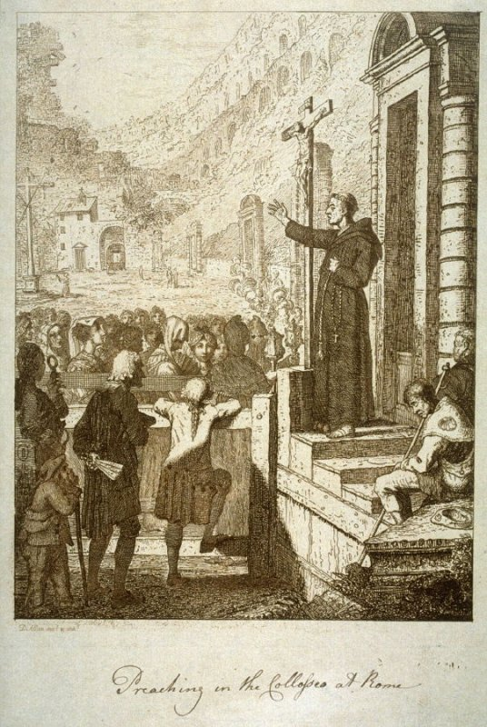 Preaching in the Collosseum at Rome