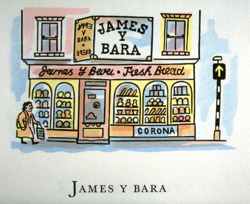 James y Bara, 11th illustration in the book An ABC Tour of Wales ( an alphabet book compiled by the artist) (Gregynog, Wales: Peter Allen, 1994)