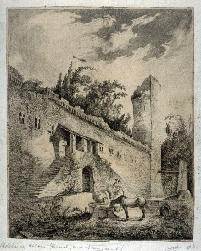 A series of six etchings of ruins, after Fragonard and H. Robert