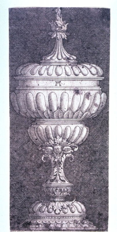 Covered Goblet with Small Pomegranates