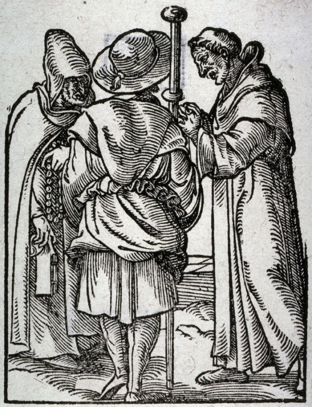Monks, from the series of Professions and Trades