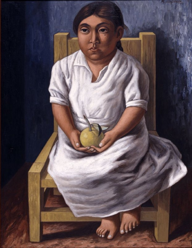 Untitled (Seated Girl Holding an Apple)