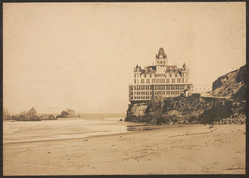 Victorian Cliff House from Ocean Beach