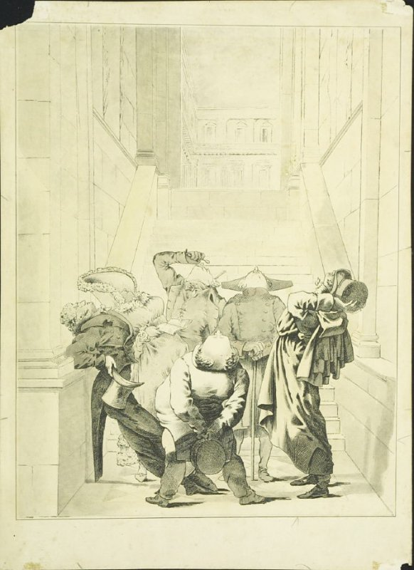 Untitled ( Figures Looking at a Ceiling in the Louvre)