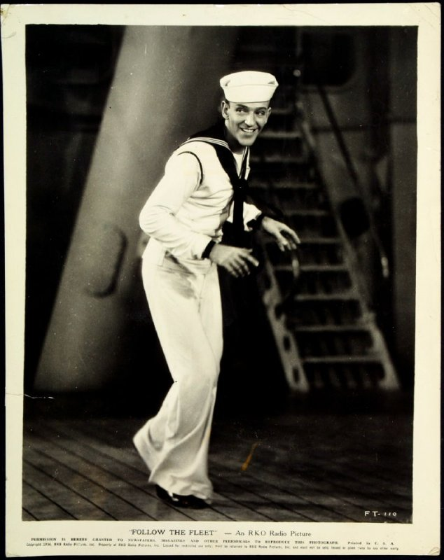 "Fred Astaire in ""Follow the Fleet"" (film still)"