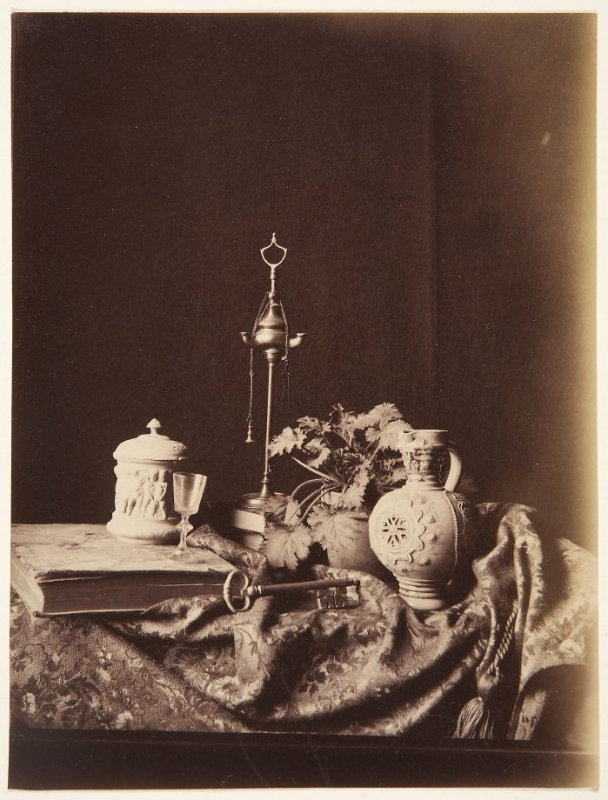 Untitled (Still Life with Key, Vase, Potted Plant)