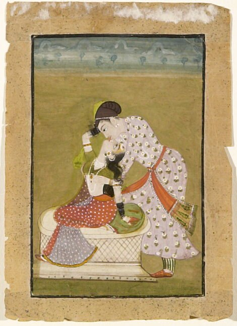 Untitled (Prince kissing his mistress)