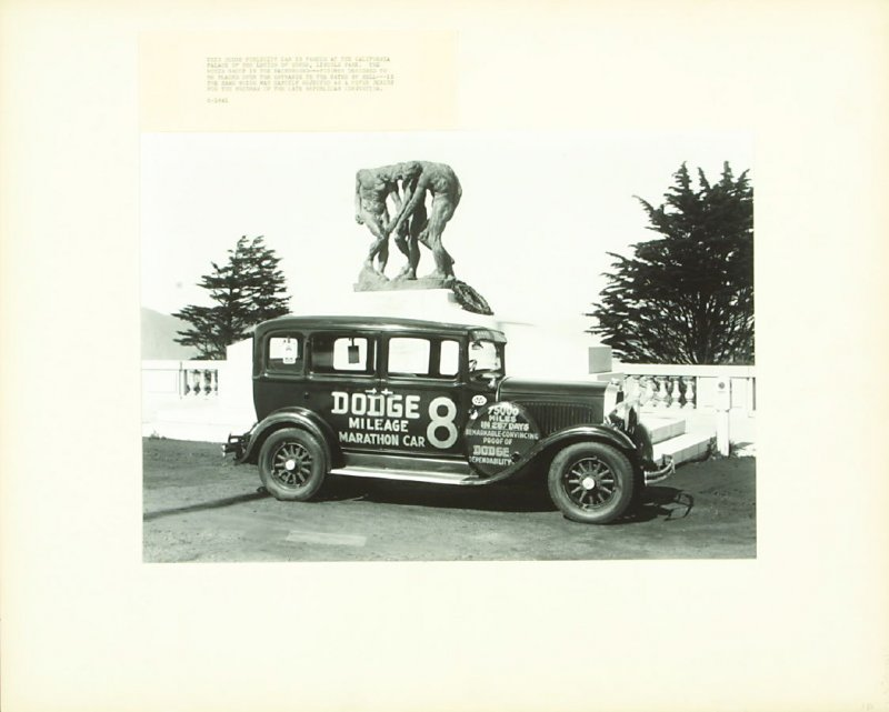 This Dodge Publicity Car Is Parked at the California Palace of the Legion of Honor, Lincoln Park.