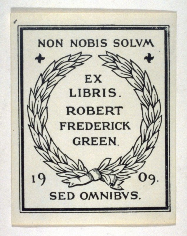 Bookplate for Robert Frederick Green