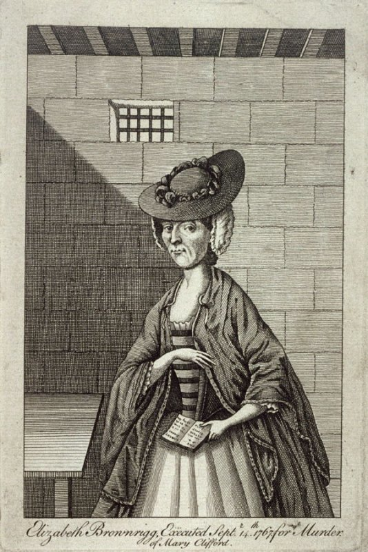 Elizabeth Brownrigg (executed for the murder of Mary Clifford)