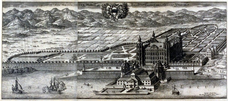 Caroli Gusavi Wrangelii Palace & Grounds, from Suecia Antiqua et Hodierna (Ancient and Modern Sweden)