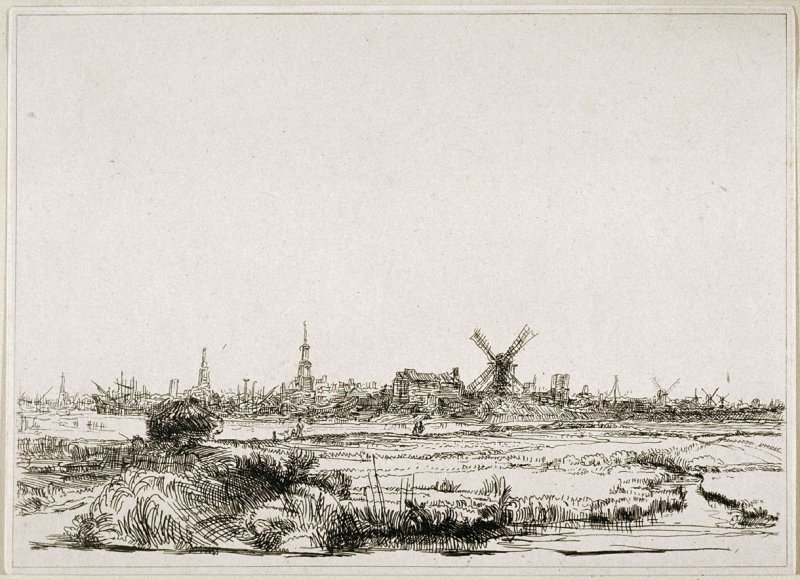 View of Amsterdam from the Kadijk (reproduction)