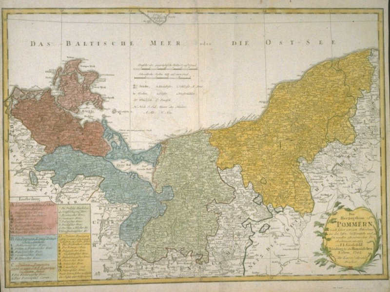 [Pommerania: Map of Germany and Poland along the Baltic]