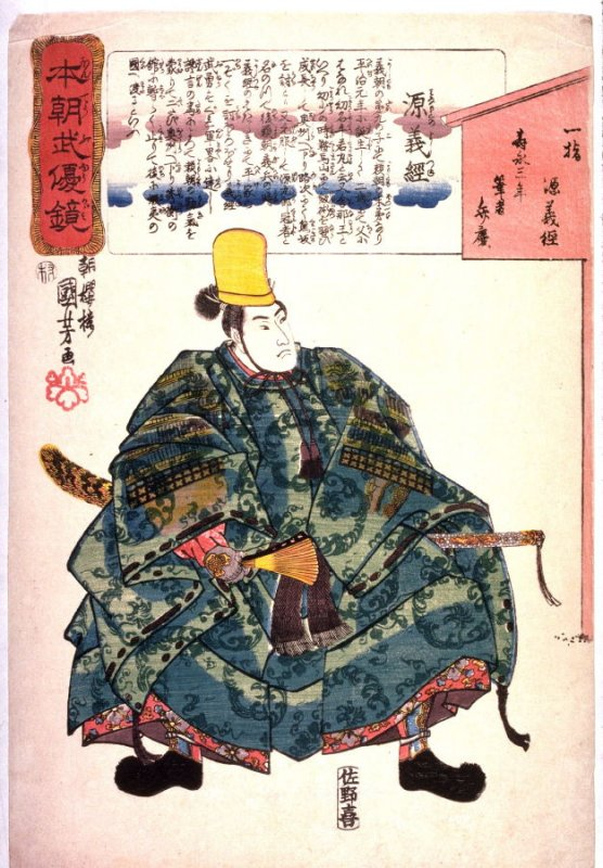 Man Holding Sword and Fan