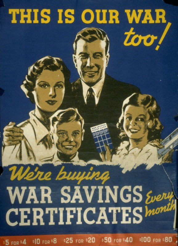 This Is Our War Too! - World War II Poster