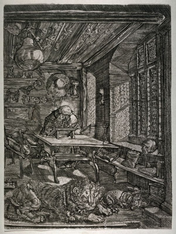 St. Jerome in His Study (reduced, reverse copy)