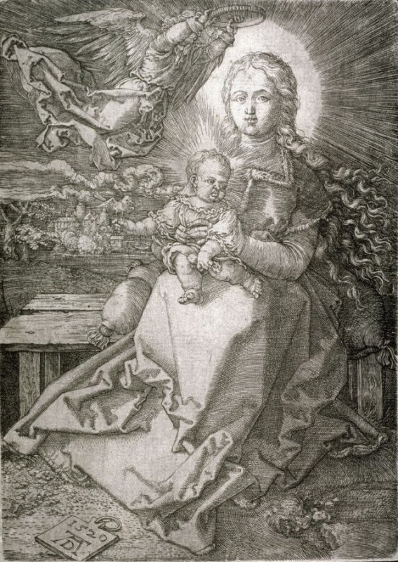 Virgin and Child Crowned by One Angel (copy)