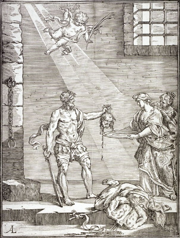 [The Executioner handing Salome the Head of John the Baptist]