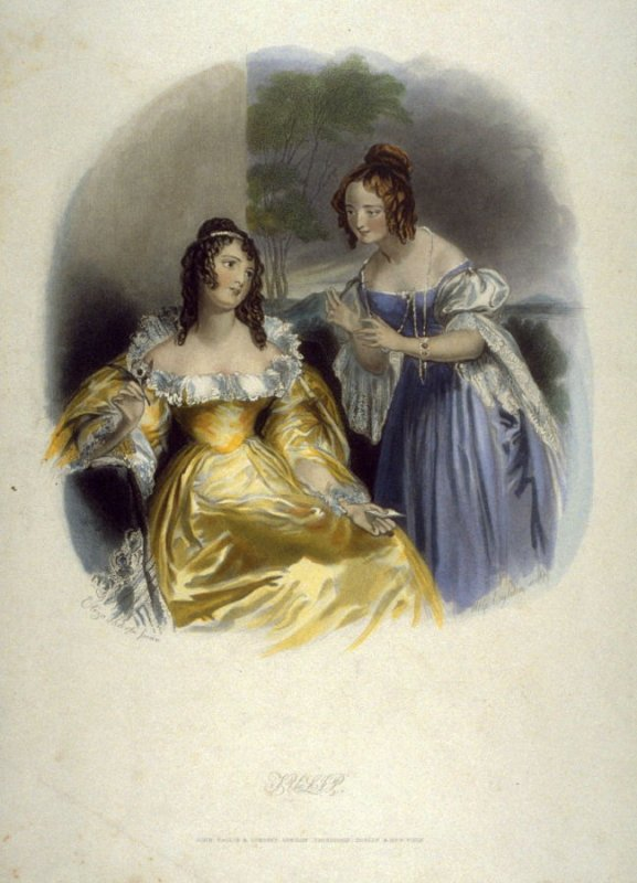 [Two Ladies Conversing with One Another]
