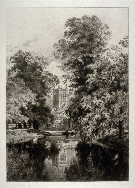 VII - Cambridge - St. Johns Chapel, from the river