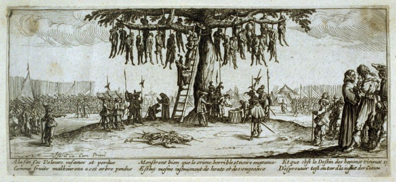 [The hanging of thieves]