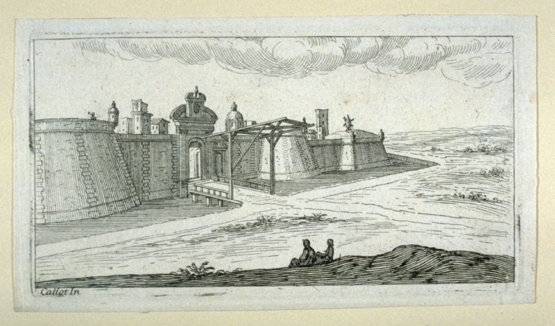 Landscape with a fortress