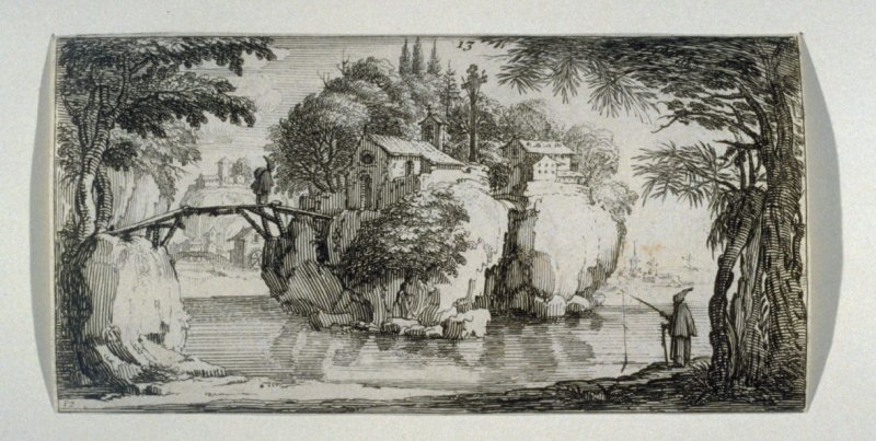 Church on a rock surrounded by water