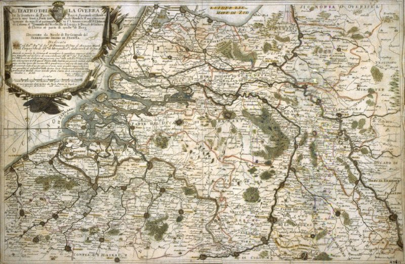 Map Of Holland And Germany.Il Teatro Del La Guerra Map Of Holland And Germany Anonymous