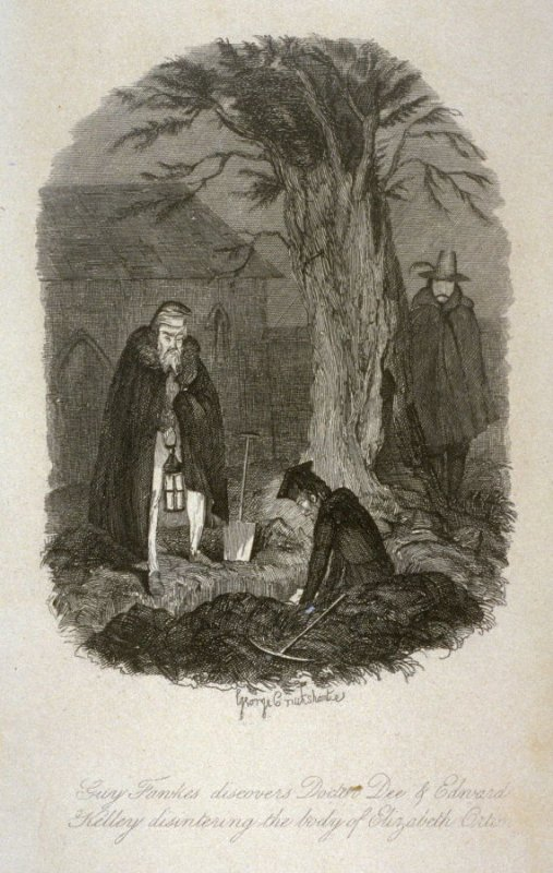 Guy Fawkes Discovers Doctor Dee of Edward Kelley disintering the body of Elizabeth Orton