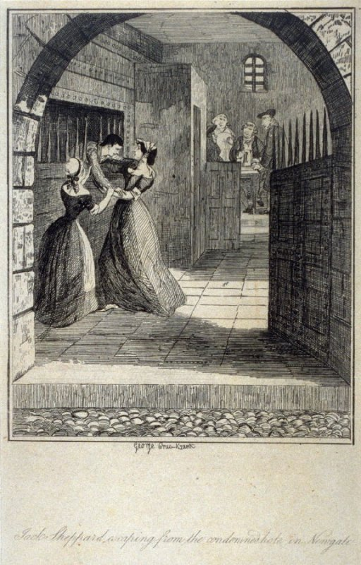 Jack Sheppard Escaping from the Condemned Hole in Newgate