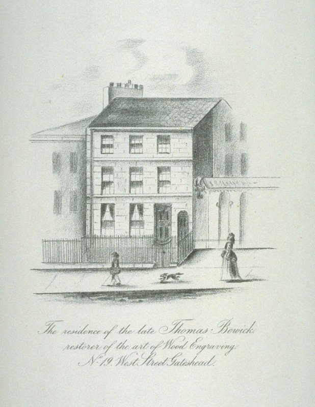 The Residence of the late Thomas Bewick restorer of the art of wood engraving