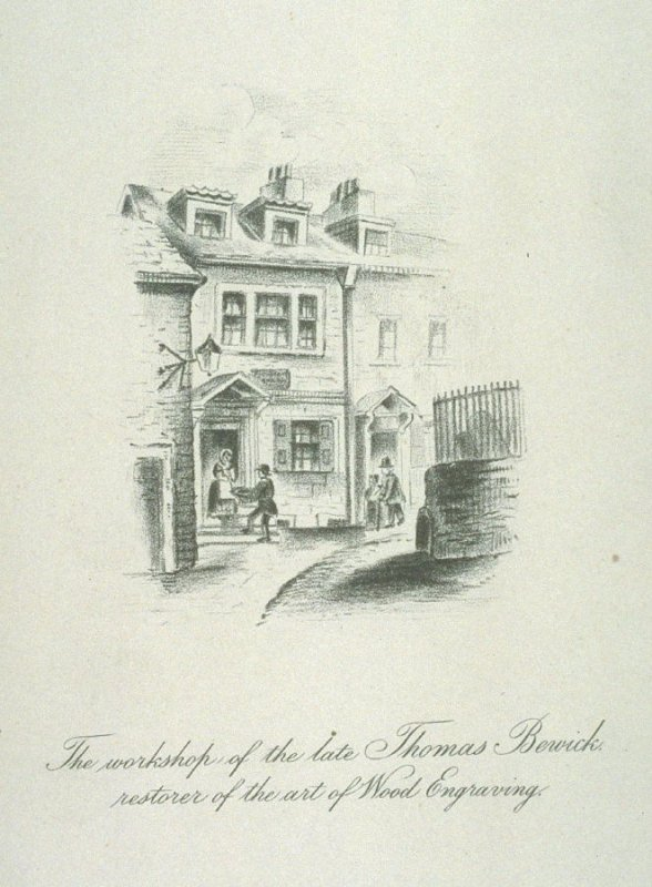 The workshop of the late Thomas Bewick restorer of the art of wood engraving