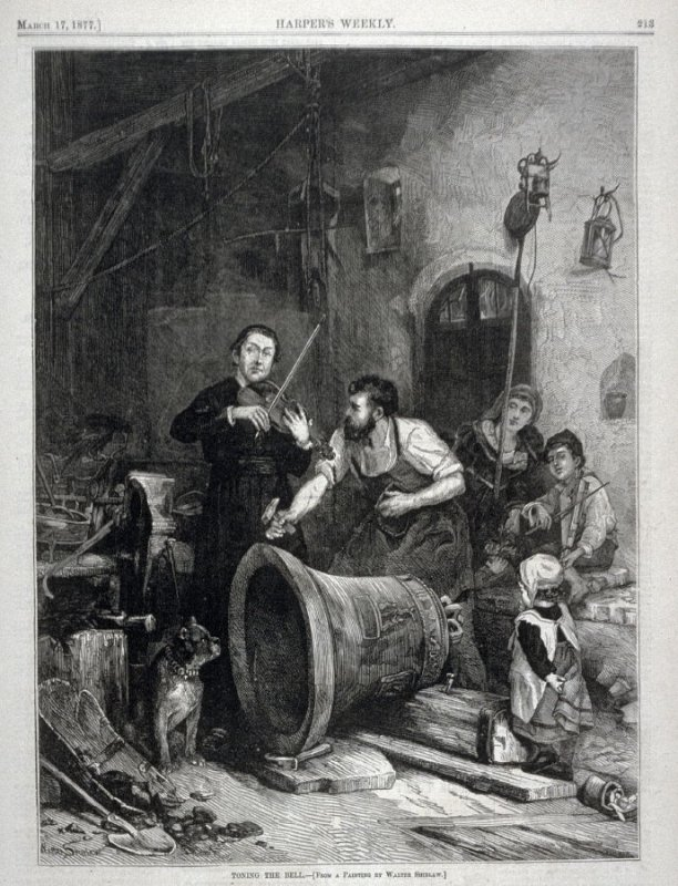 Toning the Bell- from Harper's Weekly - (March 17. 1877), p. 213