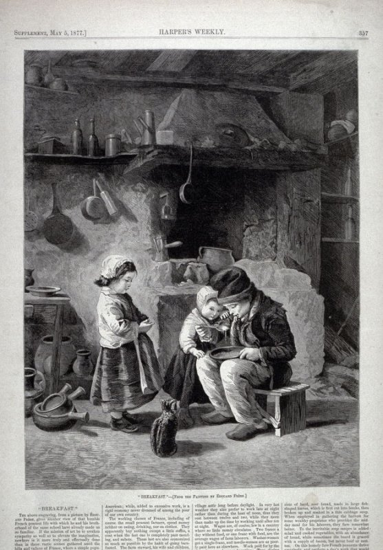 """""""Breakfast""""-from Harper's Weekly,  (May 5, 1877), p. 357"""